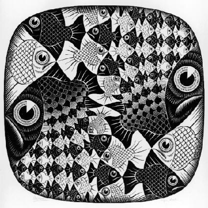 Циклический предел II. 1959, гравюра на дереве