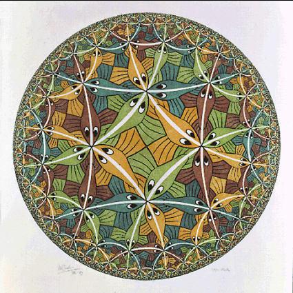 Циклический предел III. 1959, гравюра на дереве