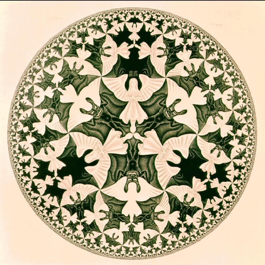 Циклический предел IV. 1960, гравюра на дереве