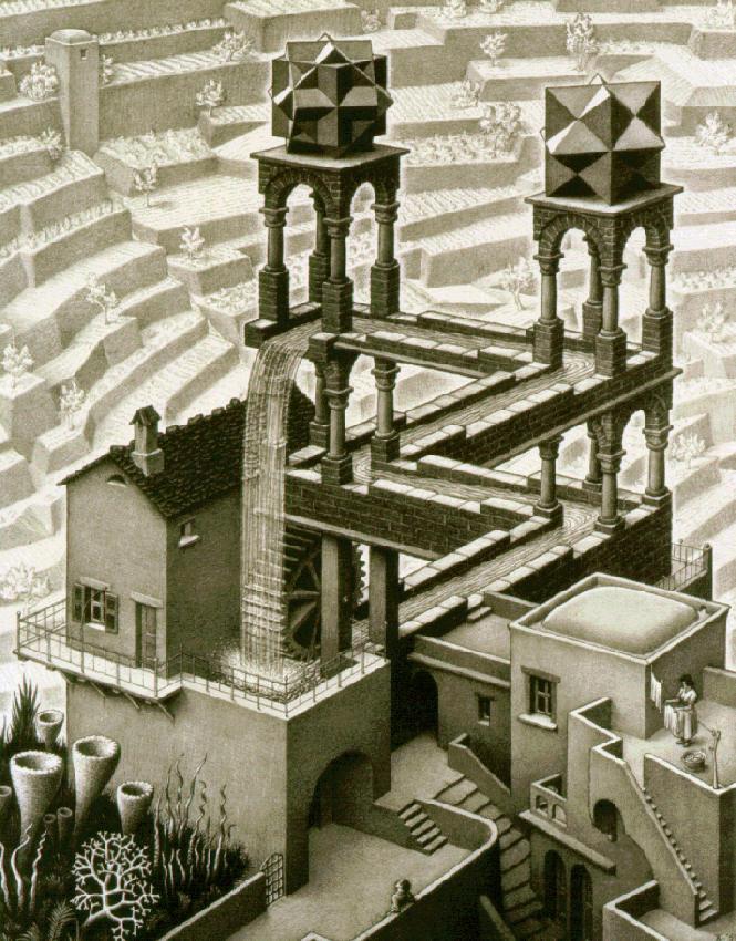 Водопад. 1961, литография