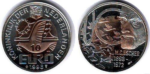 Памятные монеты, посвященные М. К. Эшеру